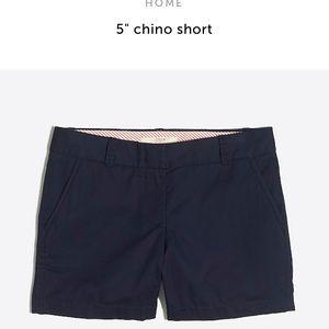 """NWT: J.Crew 5"""" Chino Black Shorts"""